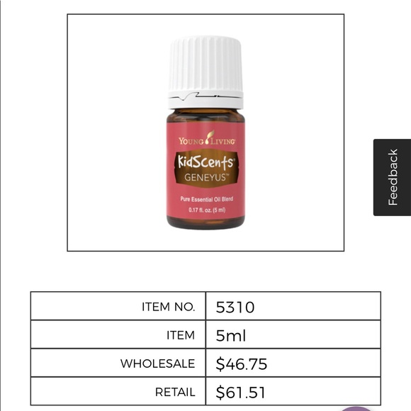 Young living GeneYus Essential oil blend
